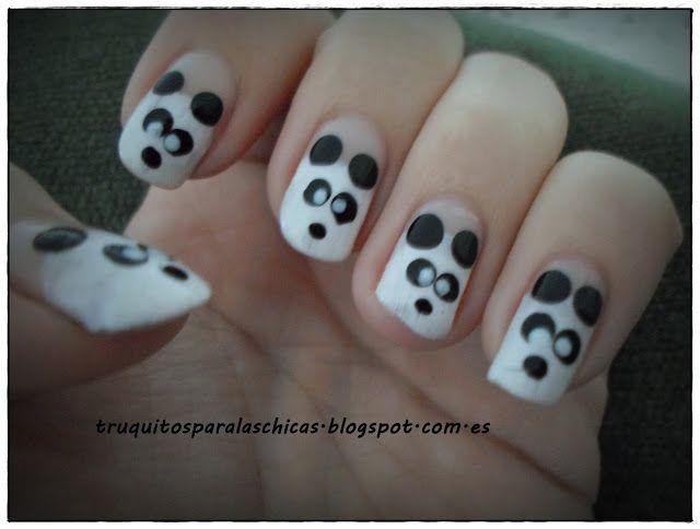 paso a paso manicura oso panda