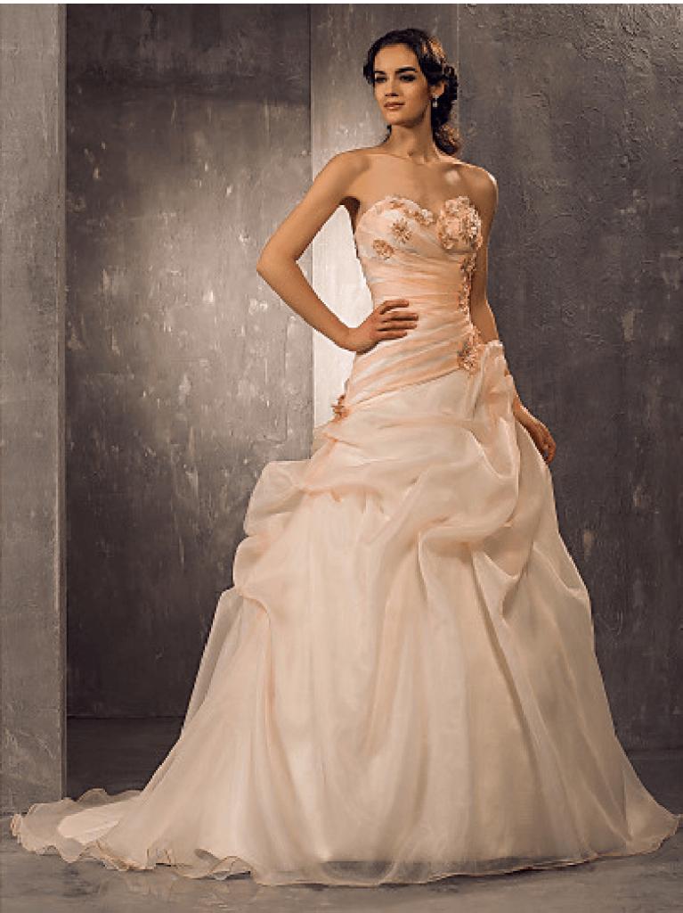 vestido de novia organza