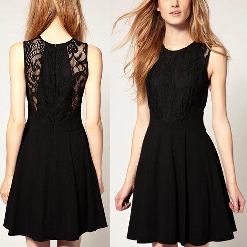vestido negro elegante barato