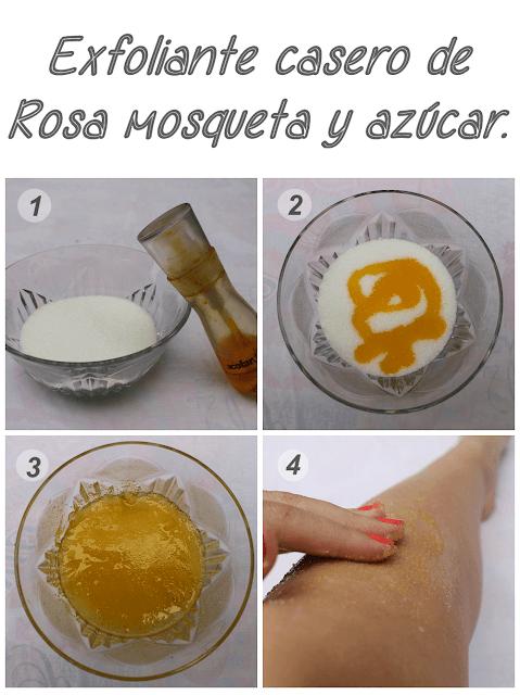 mejor exfoliante casero de azúcar y rosa mosqueta