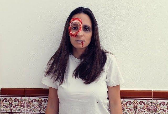 Halloween maquillaje paso a paso lata clavada en ojo