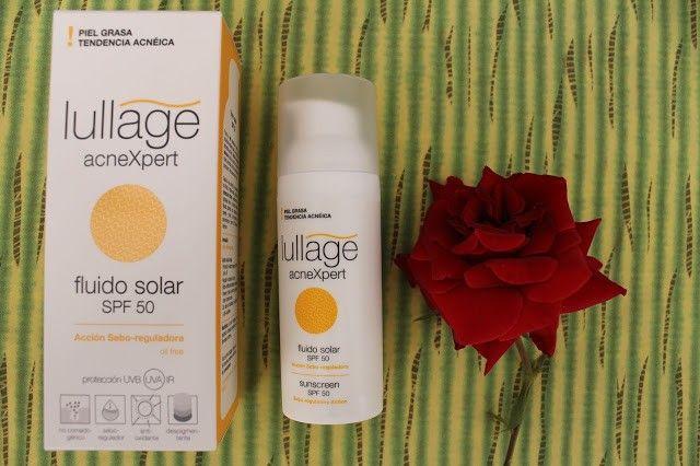 Opinión Fluido solar SPF 50 de Lullage acnexpert: