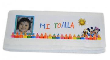 toalla personalizada niños