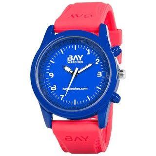 reloj moda rojo y azul