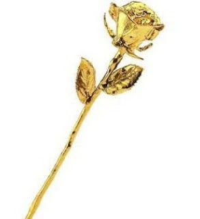 rosa bañada en oro 24 kt regalo san valentin
