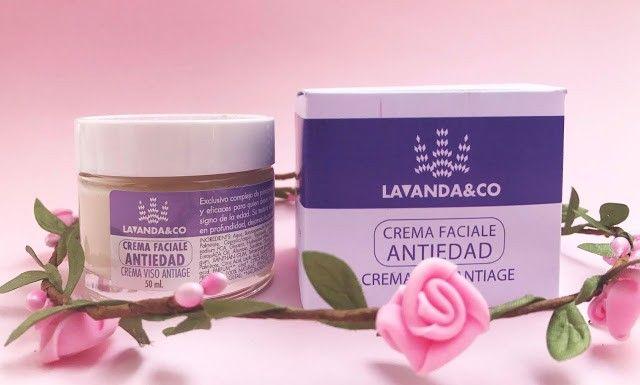 crema facial antiedad ecologica lavanda&co