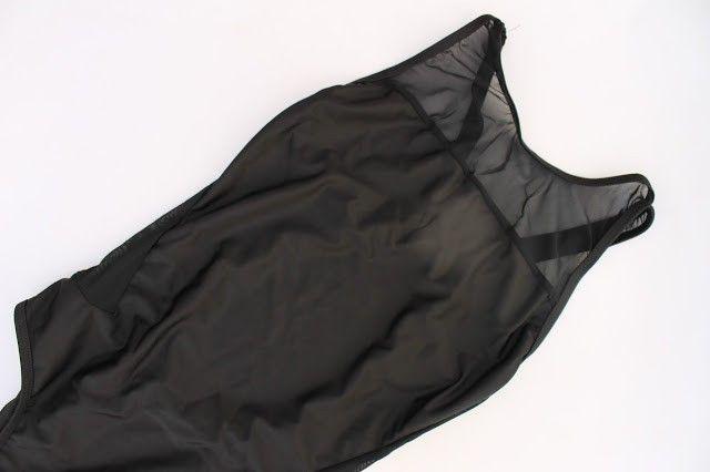 bañador negro transparencias zaful