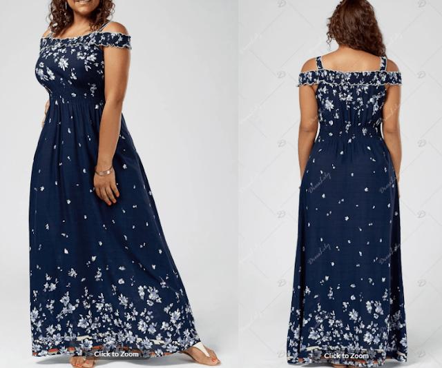 vestido azul tallas grandes dresslily