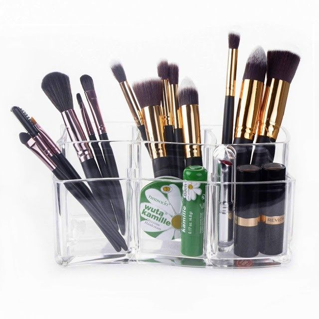 organizador brochas de maquillaje