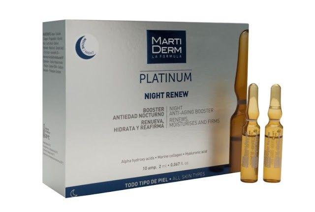 Ampollas Martiderm Platinum Night Renew